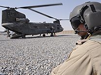 A CH-147D Chinook stops to refuel in Afghanistan in 2010. PHOTO: Sergeant Daren Kraus