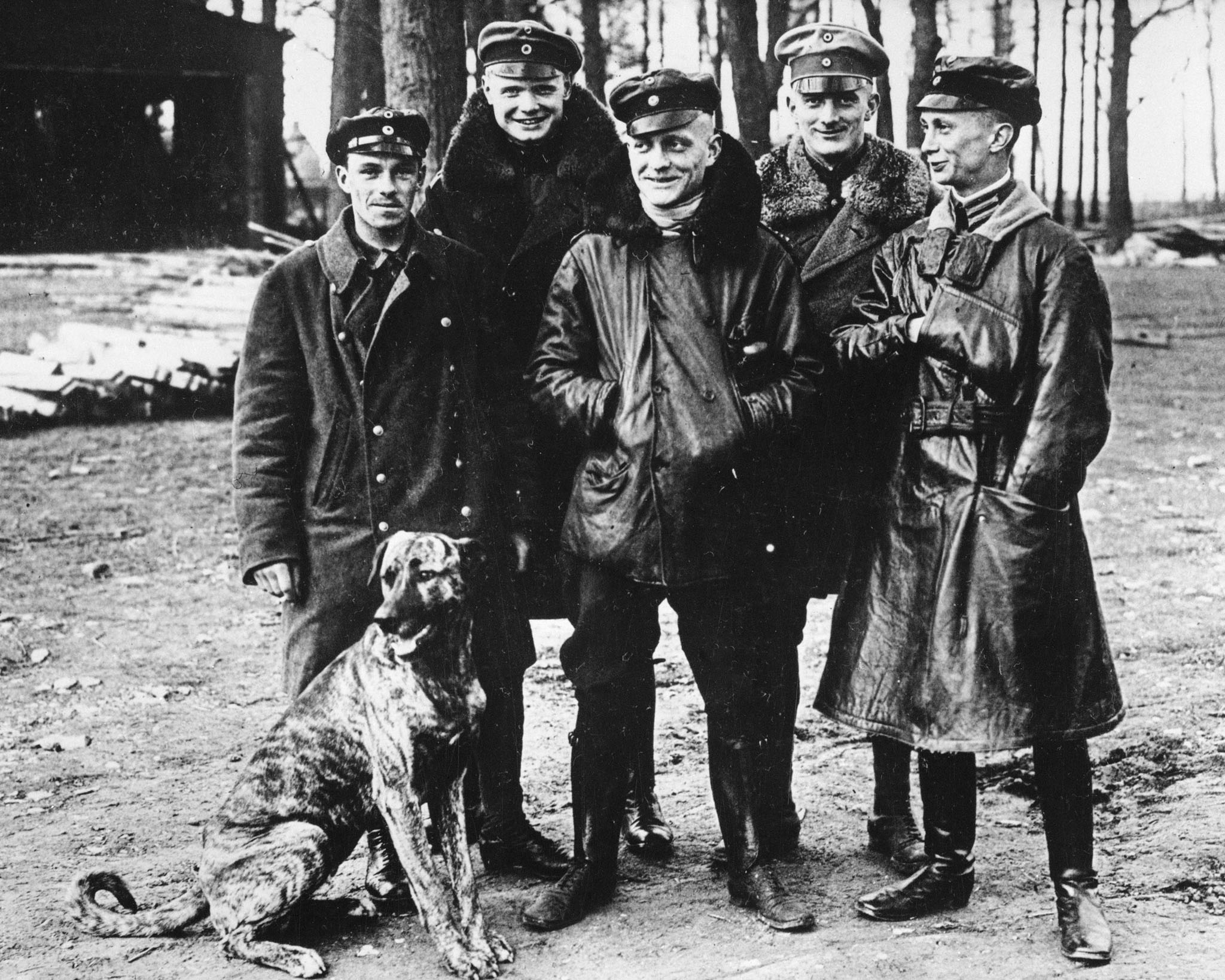 "Experienced German fighter pilots such as Manfred von Richthofen (centre) – the ""Red Baron"" – took a deadly toll of the Allied airmen during the Battle of Arras. PHOTO: DND Archives, AH-489"