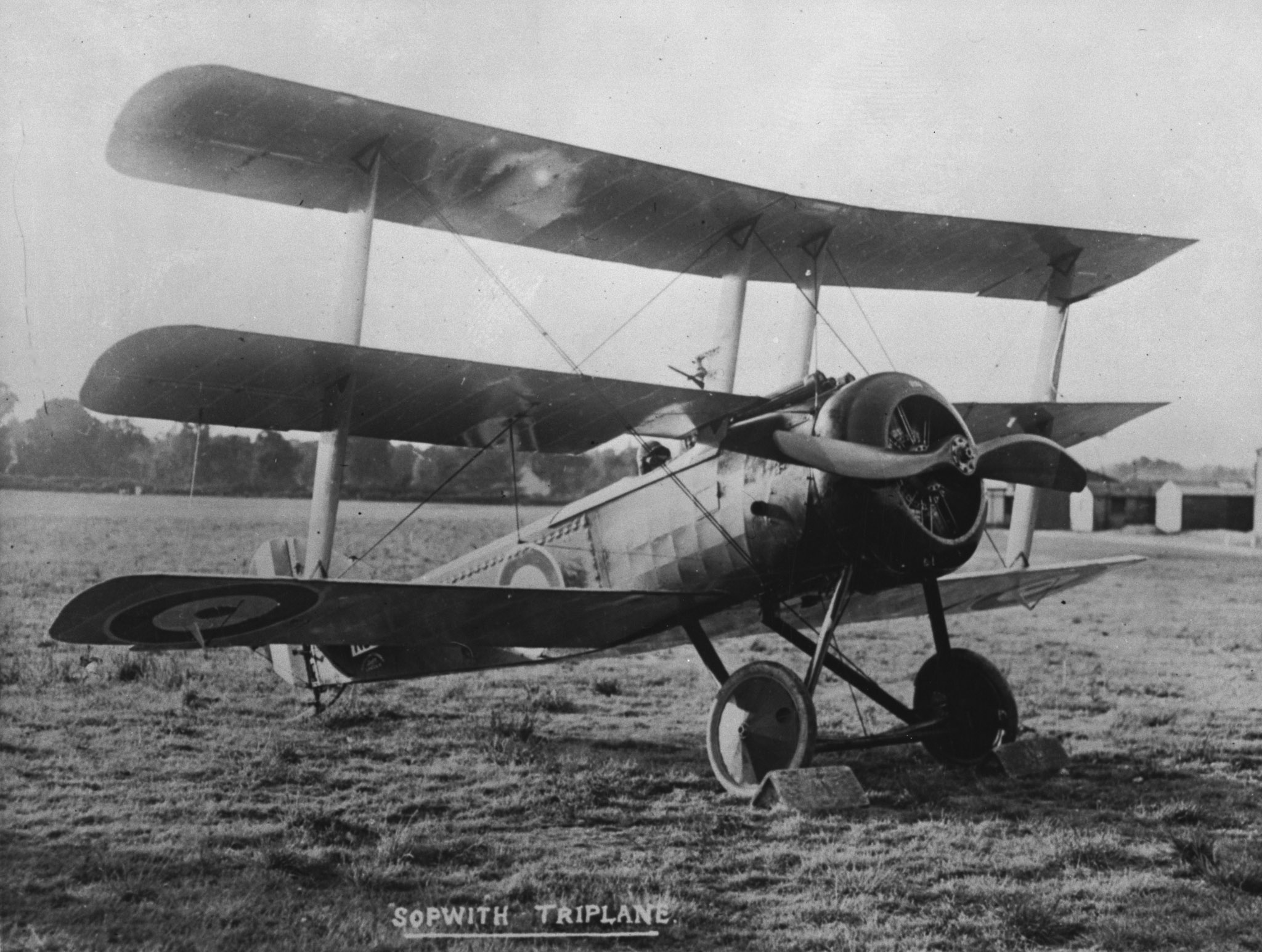A Sopwith triplane. Numbers 1, 8 and 10 Squadrons of the Royal Naval Air Service, operating Sopwith triplanes, were temporarily placed at the disposal of the Royal Flying Corps in the lead-up to the Battle of Vimy Ridge. PHOTO: DND Archives, AH-493