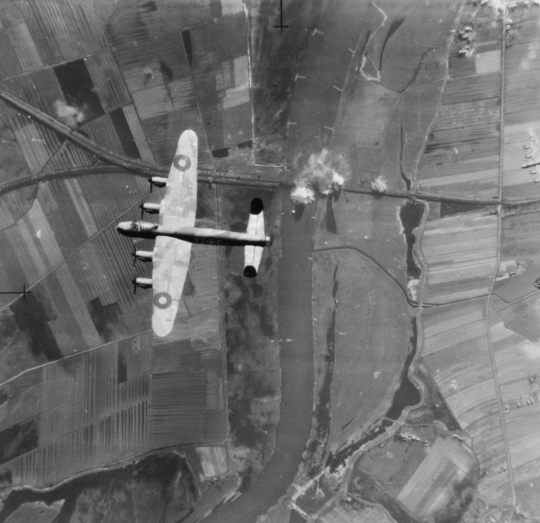 A Second World War Lancaster operated by 617 Squadron, the Dambusters squadron. PHOTO: DND Archives, PL-144260
