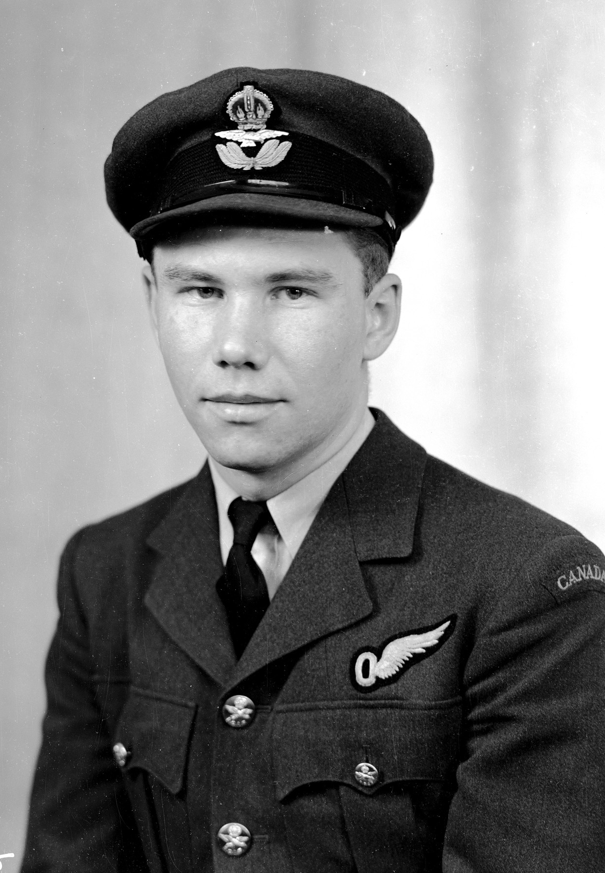 "Pilot Officer Torger Harlo ""Terry"" Taerum, RCAF, was photographed in London, England, shortly after the Dambusters raid. PHOTO: DND Archives, PL-16895"